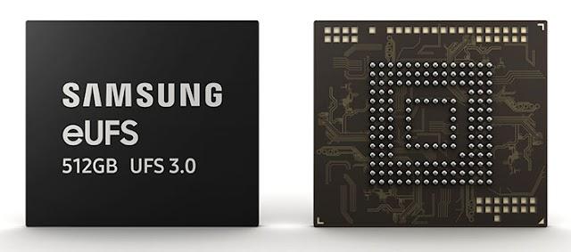 Samsung Announces 512GB EUFS 3.0 Storage Chip for Next Generation Smartphones