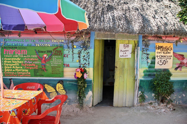 colourful restaurants, holbox,yucatan, mexico