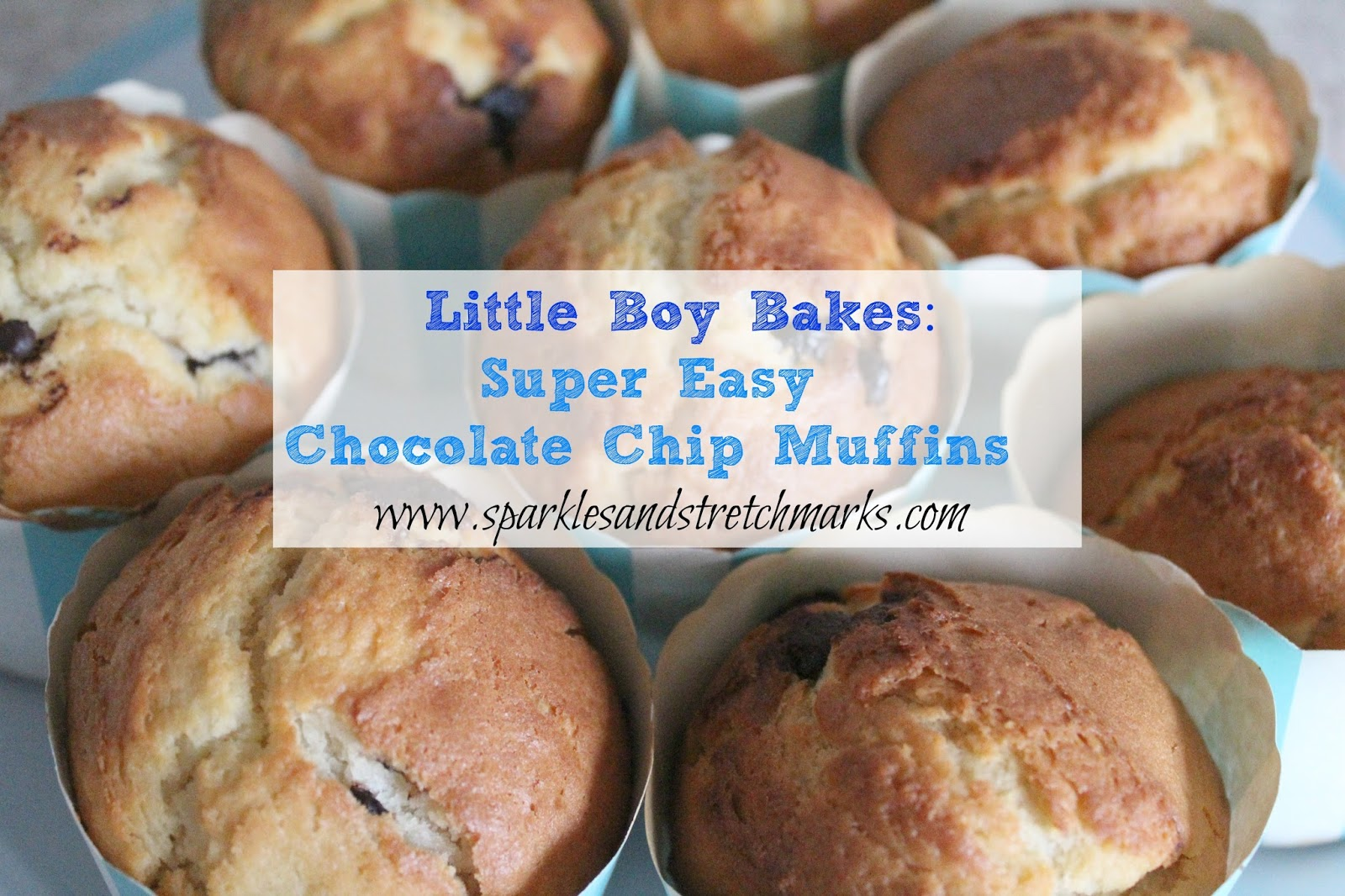Little Boy Bakes Chocolate Chip Muffins Sparkles And