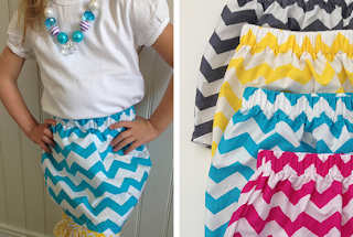 toAdorn little ladies chevron skirt