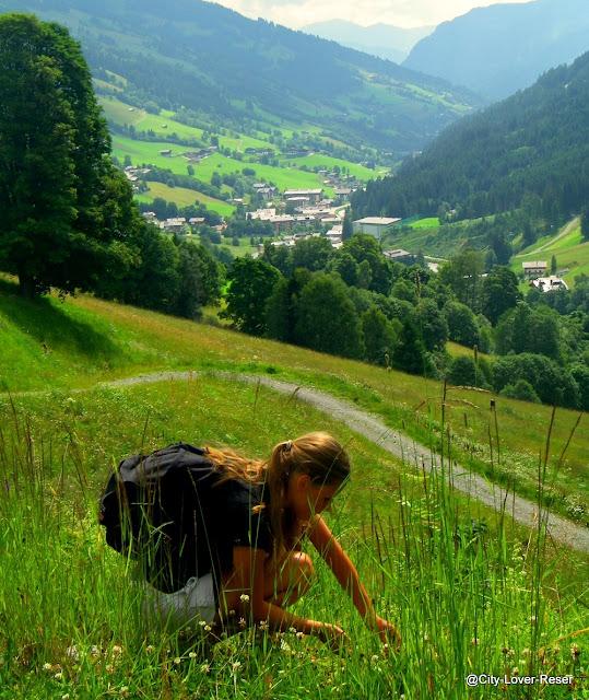 vandra med barn i Österrike