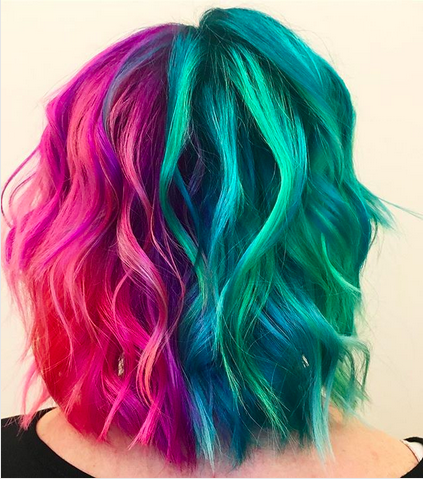 Serah Shirley, hairstylist, Pulp Riot, haircolor, unicorn hair, crazy haircolor, hair dye, interview, First Look Fridays, split haircolor, half and half haircolor