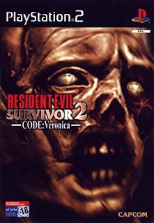 Capa Resident Evil Survivor 2 CODE Verônica PS2 2001