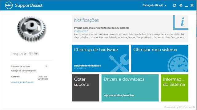 Como usar o aplicativo de suporte da Dell