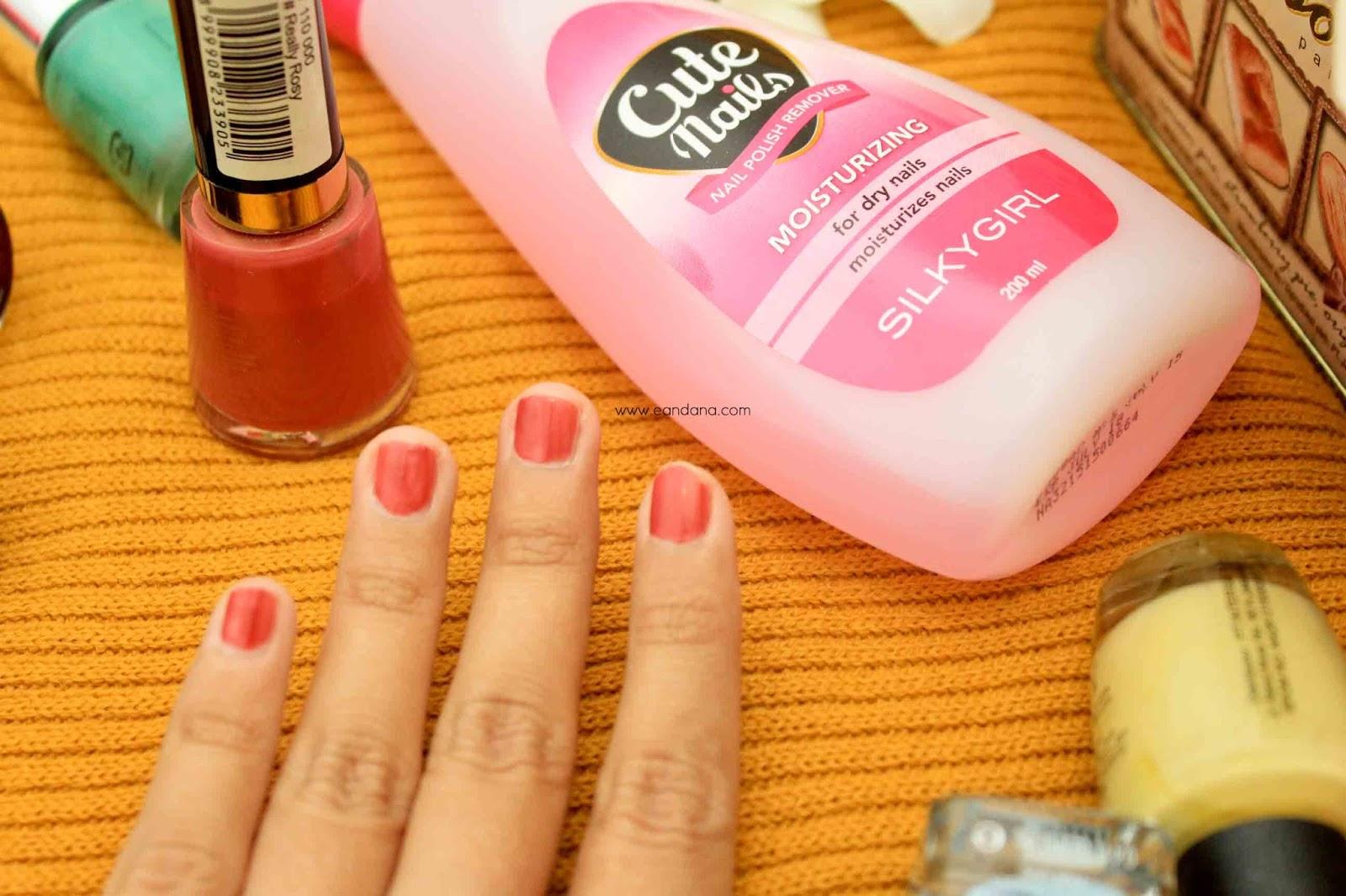 silky girl cute nail polish remover moisturizing dry nails