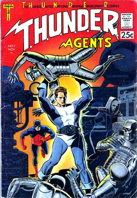 Thunder Agents v1 #1 tower silver age 1960s comic book cover art by Wally Wood