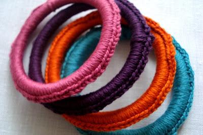 Crocheted Banlges Tutorial