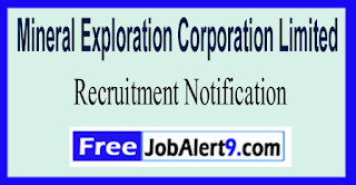 MECL Mineral Exploration Corporation Limited Recruitment Notification 2017 Last Date 17-06-2017