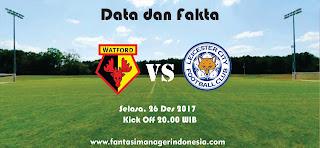 Data dan Fakta Fantasy Premier League Watford vs Leicester Fantasi Manager Indonesia