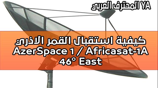 ﻛﻴﻔﻴﺔ ﺍﺳﺘﻘﺒﺎﻝ ﺍﻟﻘﻤﺮ ﺍﻻﺫﺭﻱ : AzerSpace 1 / Africasat-1A @ 46° East