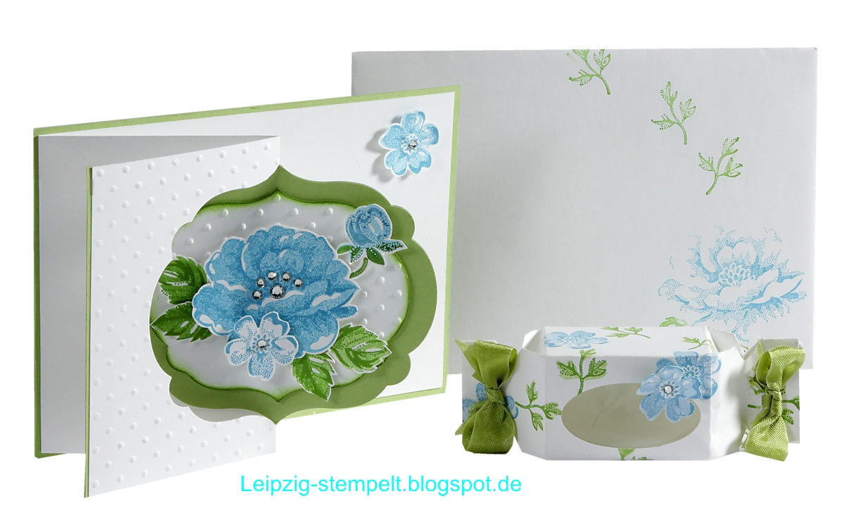 Pop up, Swing-Card, Stampin up, Stippled Blossoms