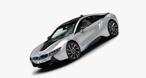 3dsMax高精度BMW i8汽车3D模型下載