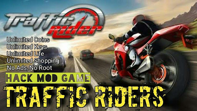 Traffic rider mod Game Unlimited coins shopping key
