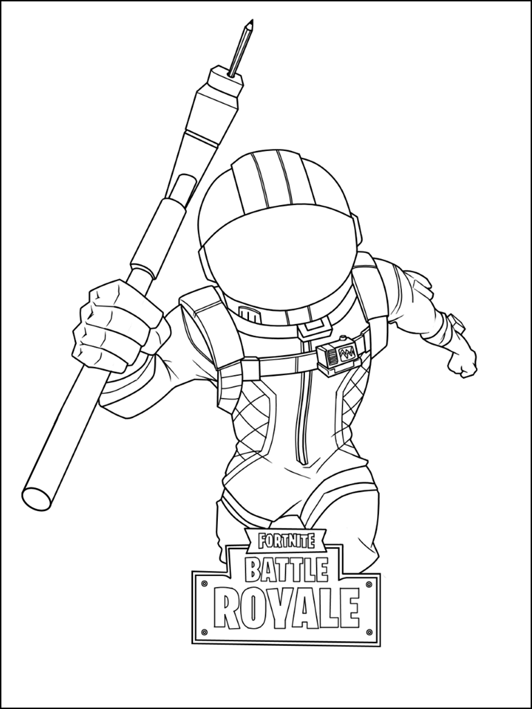 It's just an image of Agile Fornite Coloring Pages