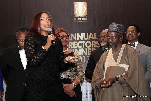 Mo Abudu wins big! Joins Peter Obi & Aliko Dangote as winners at the 2017 Institute of Directors Nigeria Awards