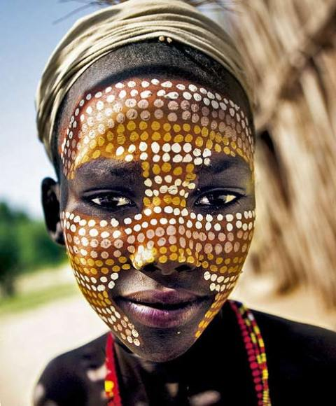 African Woman Face Paint