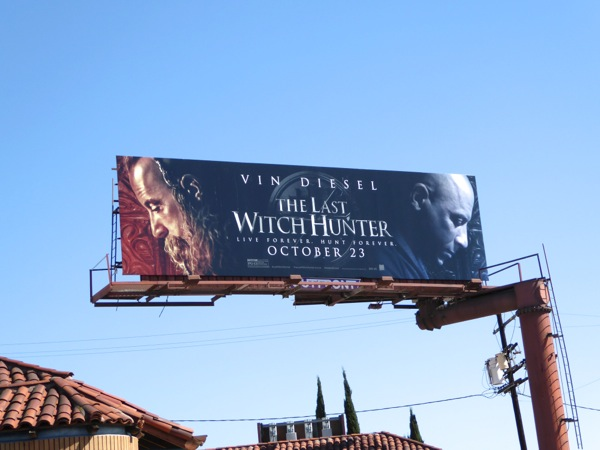 The Last Witch Hunter movie billboard