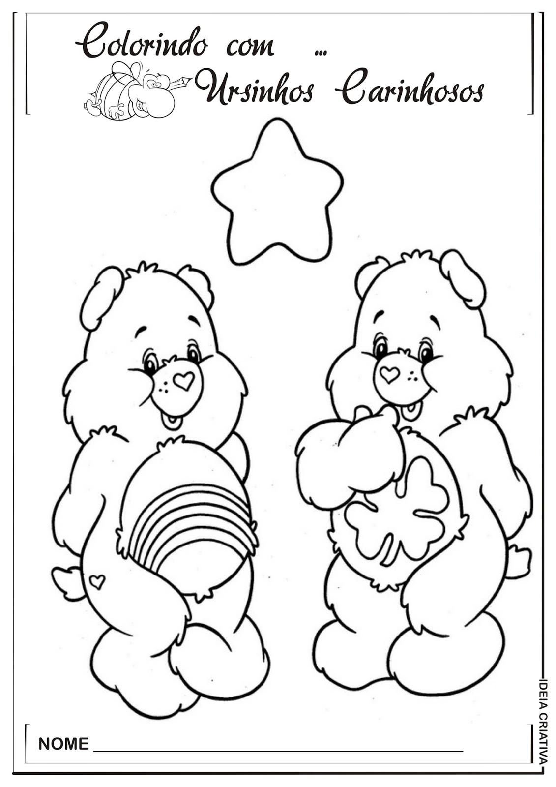 imagens para colorir do ursinhos carinhosos urso zangadinho