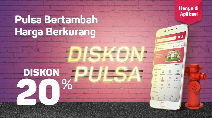 Bukalapak - Voucher Diskon 20% Beli Pulsa & Paket Data (s.d 18 Juli 2018)