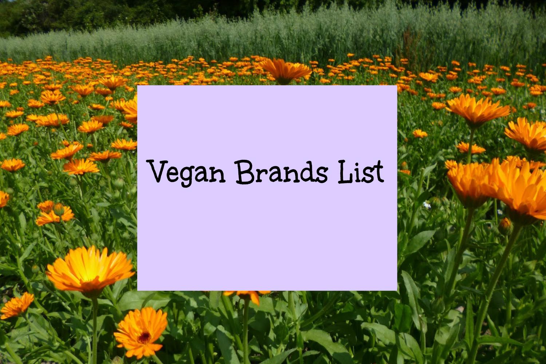 Vegan Brands List
