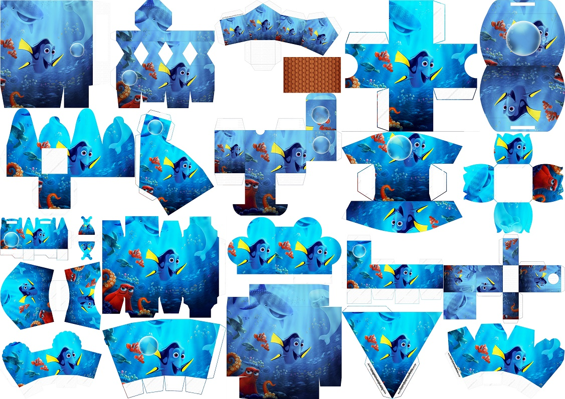 Buscando A Dory Para Colorear E Imprimir: Buscando A Dory: Cajas Para Imprimir Gratis.