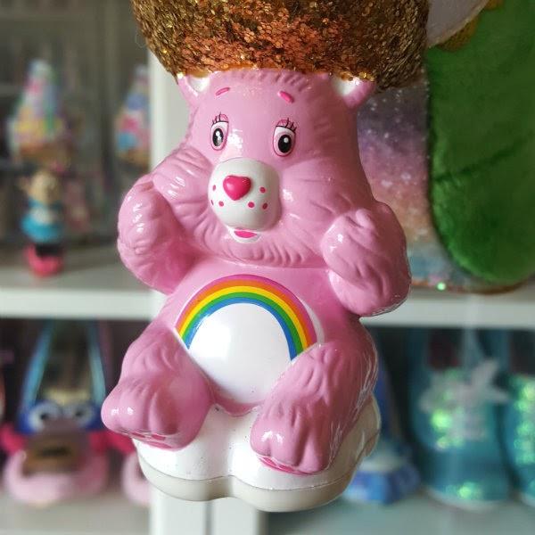 Cheer Bear pink Care Bear shaped heel on shoe