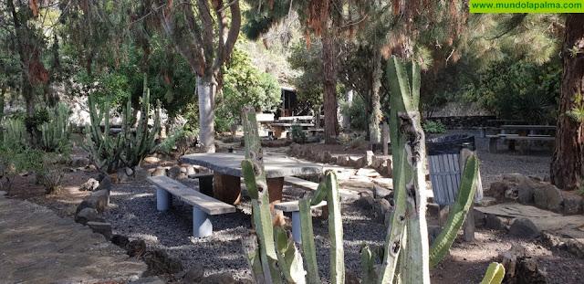 El Cabildo financia los trabajos de remodelación de la zona recreativa de la Fuente del Toro, en Tijarafe