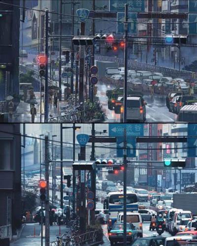 47 gambar Anime pemandangan macet dijalan