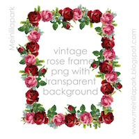 vintage rose border png