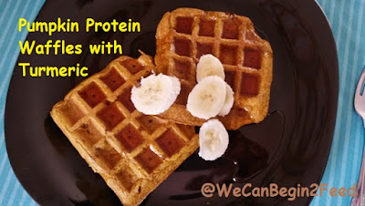 Pumpkin Protein Waffles with Turmeric