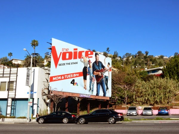 The Voice season 8 Blake Shelton billboard