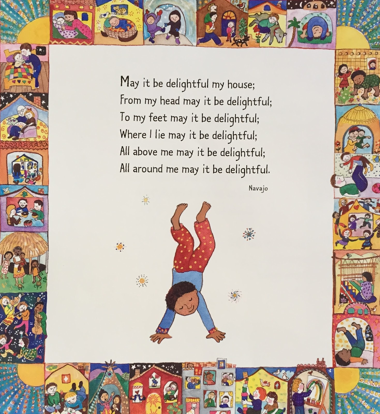 If you want to use a poem in worship, choose a poem in a picture book and  project the image on a wall or screen. This one would be beautiful!
