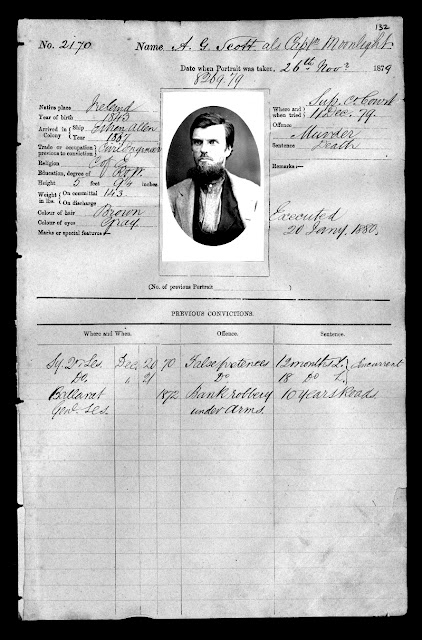 Captain Moonlight, November 1879 Gaol photograph