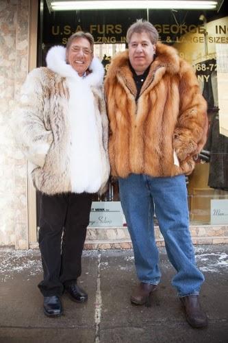 Joe Namath in fur coat from Marc Kaufman furs