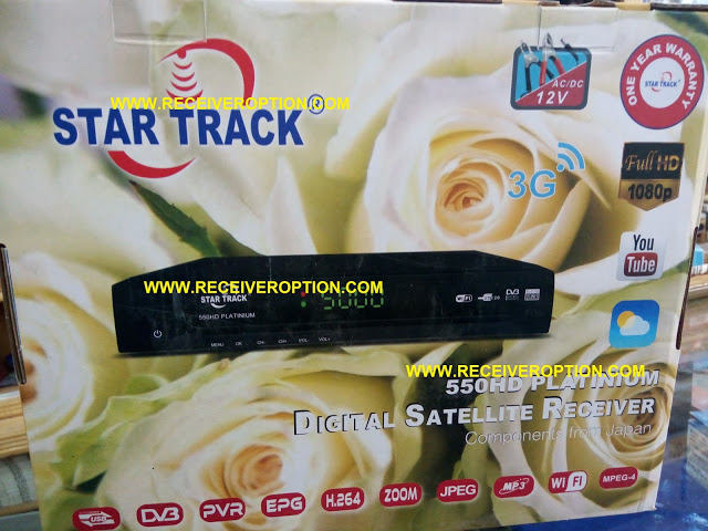 STAR TRACK 550HD PLATINIUM RECEIVER AUTO ROLL NEW SOFTWARE