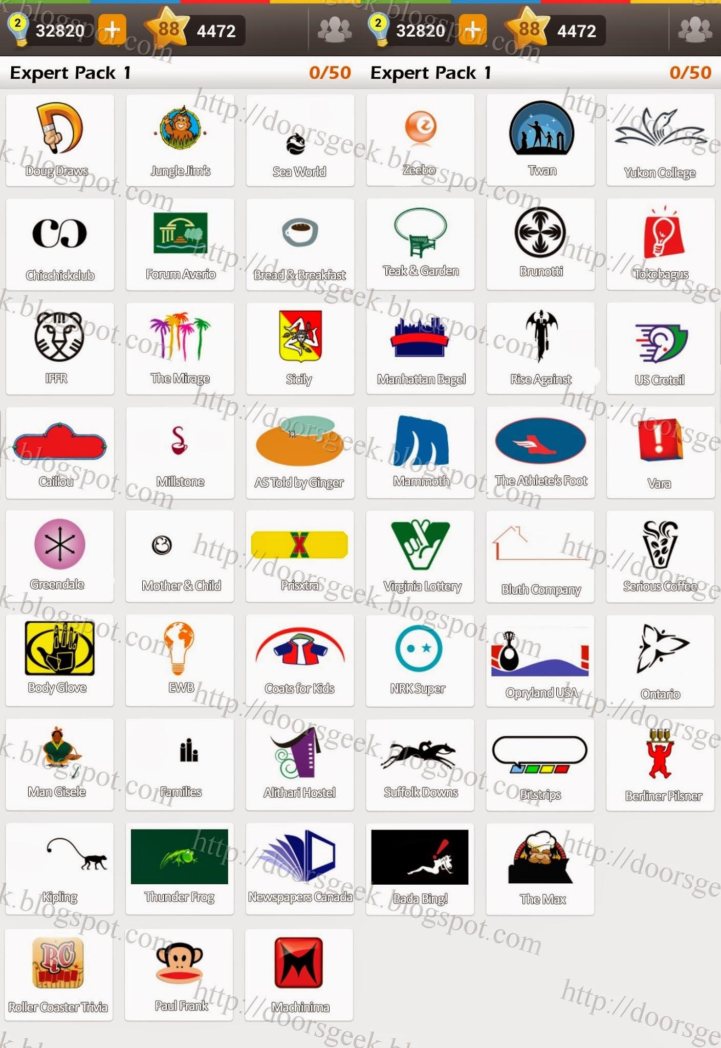 Logo Game: Guess the Brand [Expert] Pack 1 ~ Doors Geek