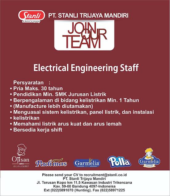 lowongan kerja electrical engineering staff