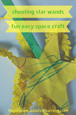 Shooting Star Wands: Fun Easy Space Craft for Preschool
