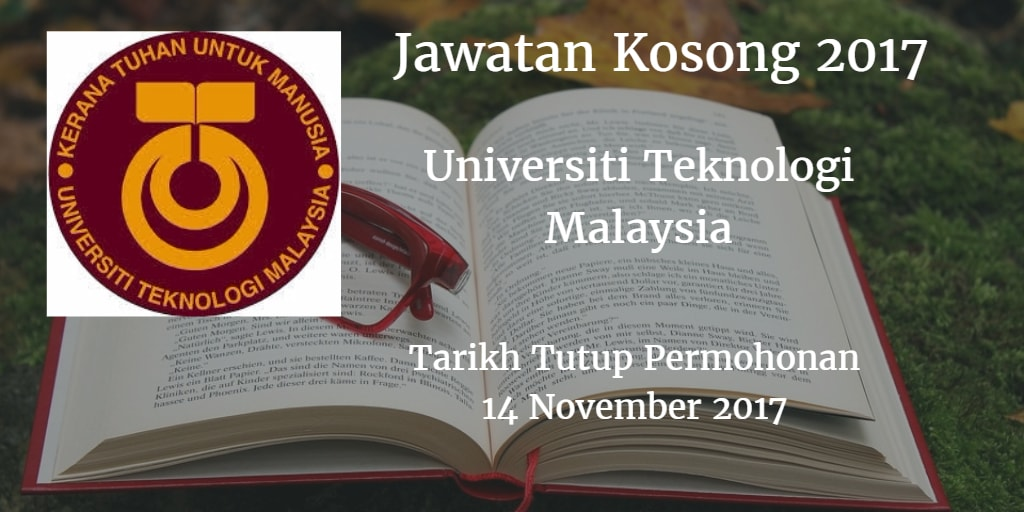 Jawatan Kosong UTM 14 November 2017