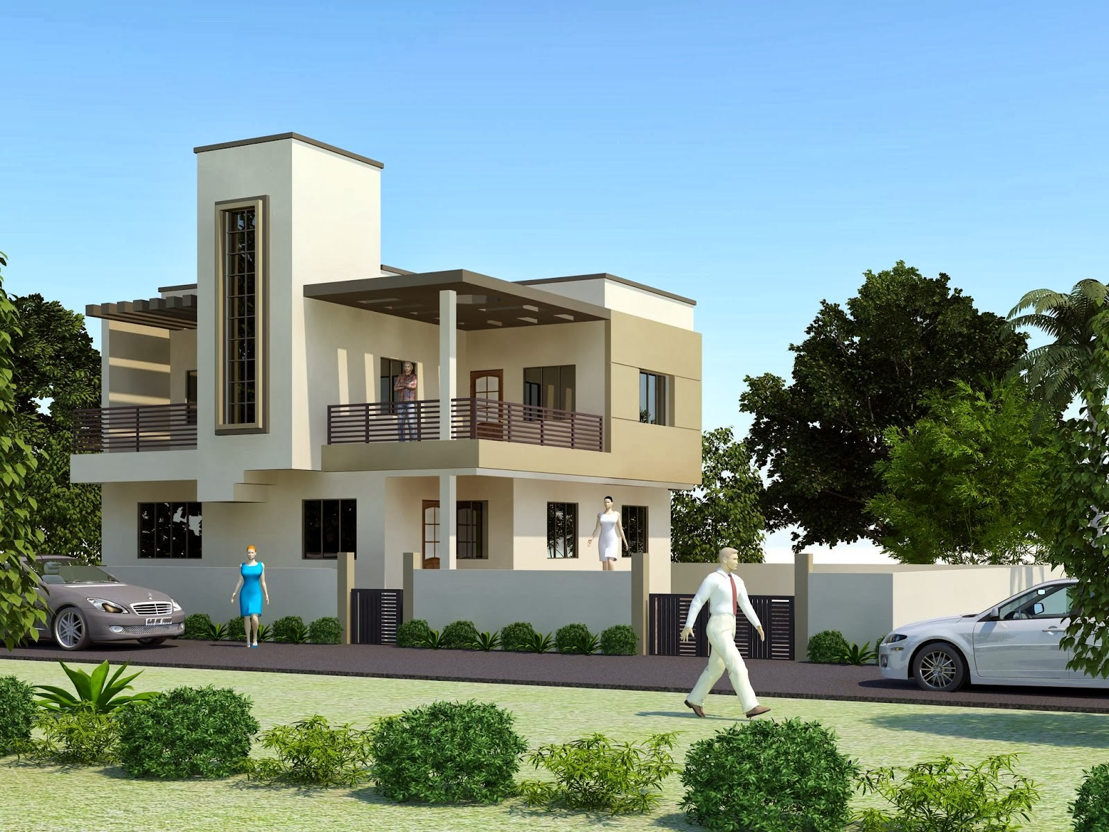 Exterior: 20 Amazing 3D House Exterior Design Styles In 2014