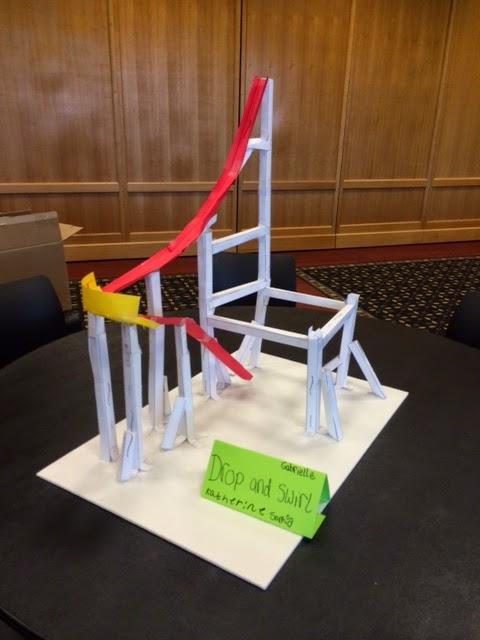 Libraryland Paper Roller Coasters - paper roler