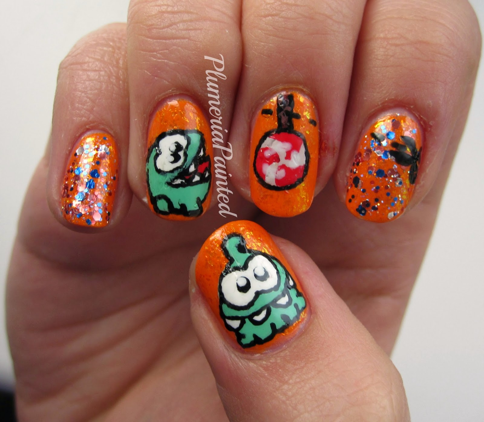PlumeriaPainted: The iPhone (Nail) Series: Cut The Rope