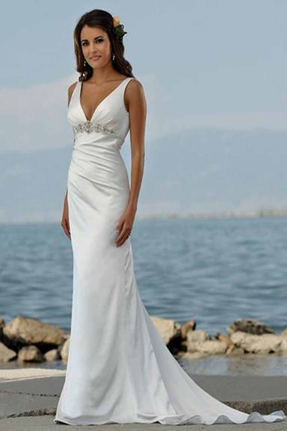 Luxury Vestidos De Novia Para Playa Photos - Wedding Dress Ideas ...