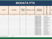 Aplikasi Biodata PTK Guru 2016