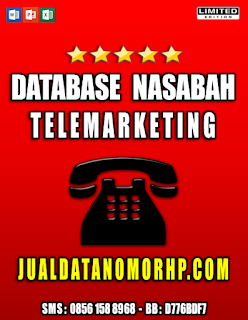 Jual Database Nasabah Prioritas Telemarketing