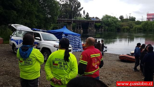Osorno: Encuentran cuerpo de joven en el río Rahue