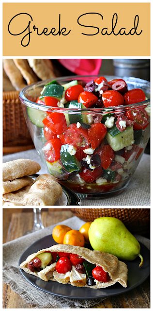 This Greek Salad is really simple, but exceptionally tasty.