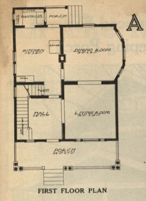 gordon van tine no 121 first floor plan