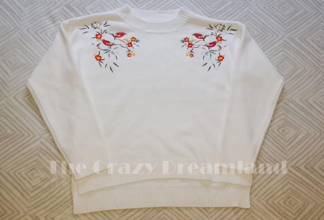 zaful-sweater-floral