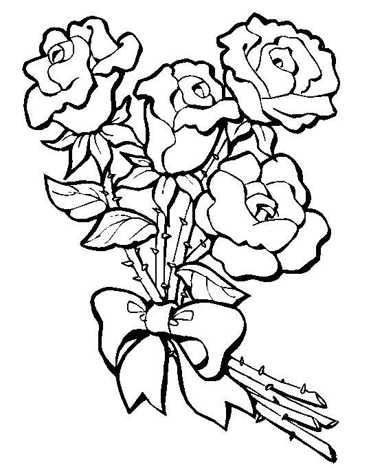 Imagenes Para Colorear De Flores Y Rosas